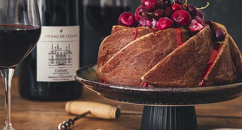 Bundt Cake glaçage cerises