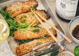 Spice-crusted salmon