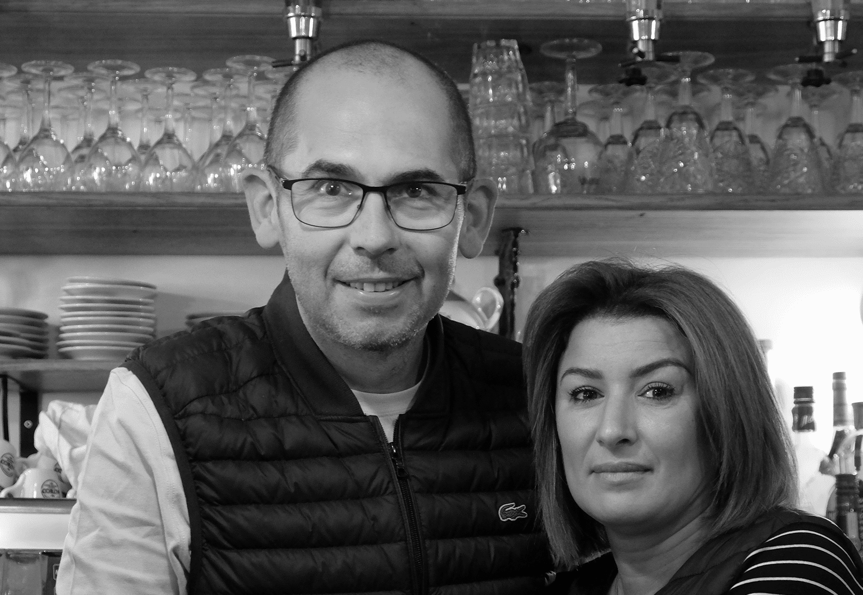 Laurent Cayla, propriétaire du restaurant, et Nadia